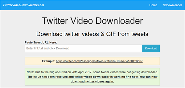 Use Free Twitter Video Downloader Online Site