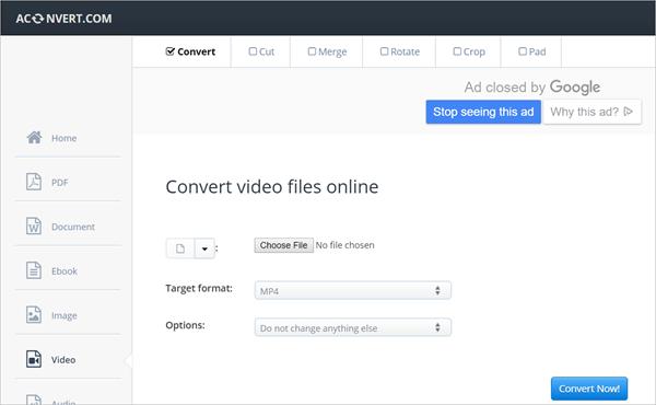 Aconvert is one of 2018 Top 6 Best Free Online Video Converter