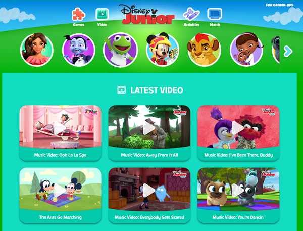 Disney Junior is one of the Top 8 Websites to Watch Cartoons/Anime Online.