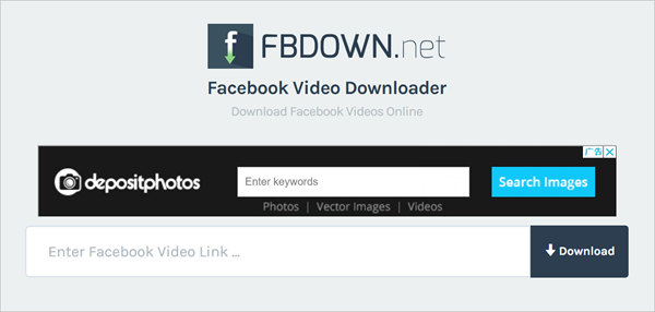 Download videos from Facebook online.