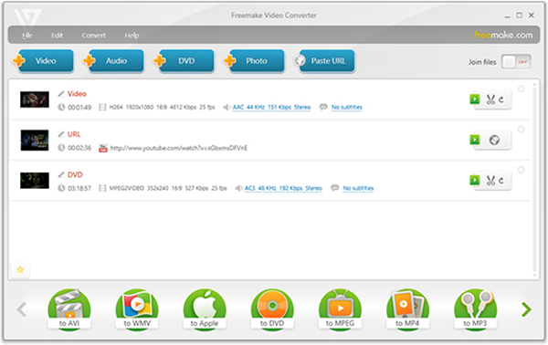 Freemake Video Converter is one of the Best 5 Free Video Converter.