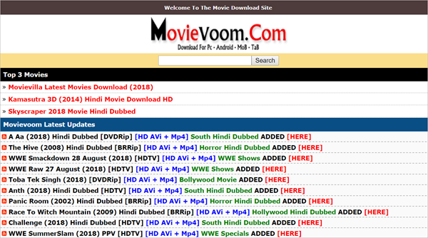 Movievoom.com is one of the Top 10 Websites to Download New Hollywood Movies in Hindi 2019.