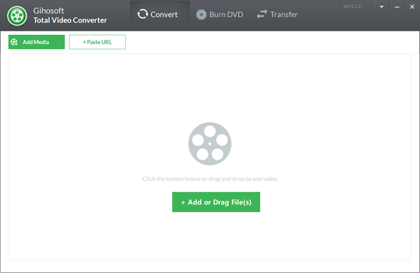 Gihosoft Total Video Converter is a professional all-in-one video tool.