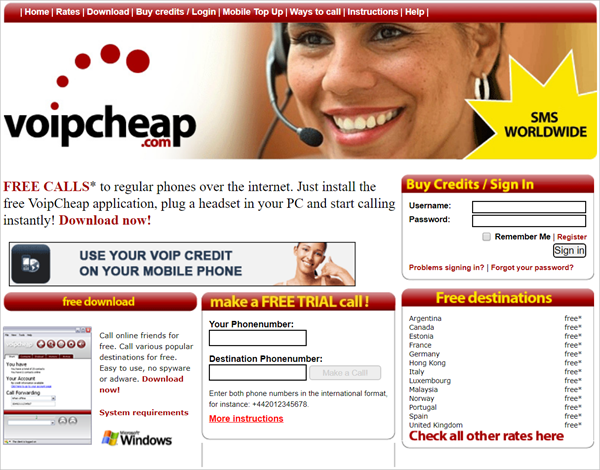 Voipcheap is one of the Top 10 Free Calling Websites Which Will Surely Rock by 2019.