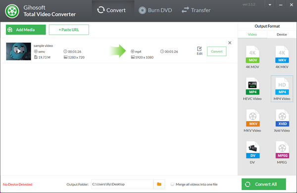How to Convert WMV to MP4 Offline Using Total Video Converter