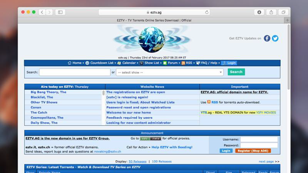 EZTV is one of the 10 Best Torrent Sites for Mac to Download Torrents.