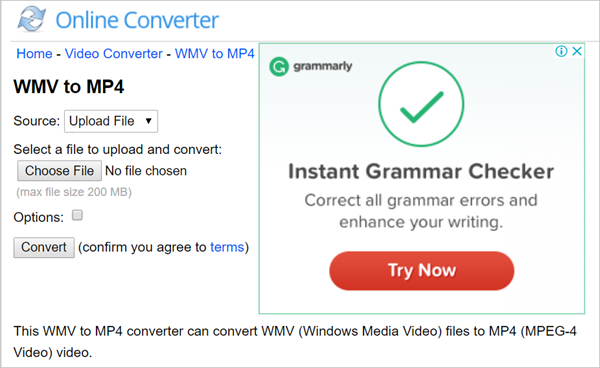 Online Converter is one of top 5 Best Free Online WMV to MP4 Converter.