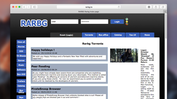 RARBG is one of the 10 Best Torrent Sites for Mac to Download Torrents.