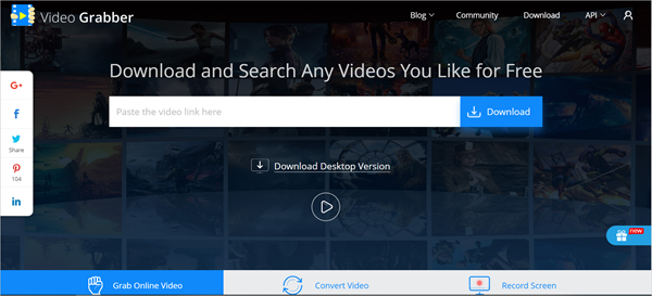 Video Grabber is one of the top 10 Best Free YouTube Downloader Online 2018.