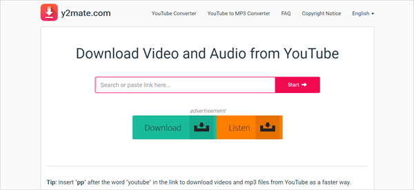 Y2mate is one of the top 10 Best Free YouTube Downloader Online 2018.