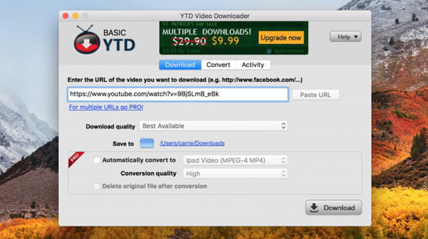 YTD Video Downloader for Mac is one of the top 7 Best Video Downloader for Mac OS in 2018.