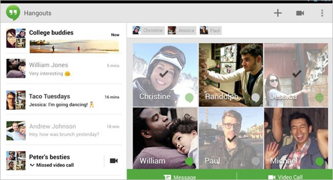 Google Hangouts is one of the best free Video Calling Software & Apps for Windows.