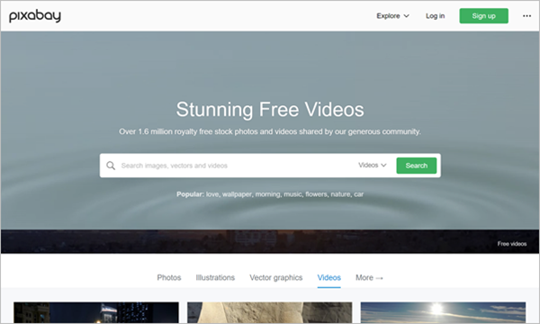 Using Pixabay to Download Free Stock Videos in 4K or Ultra HD Quality.