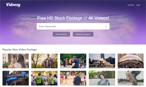 Using Videezy to Download Free Stock Videos in 4K or Ultra HD Quality.