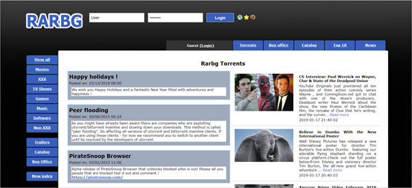 RARBG is yet another excellent ExtraTorrent alternative website that provides high-quality movies.