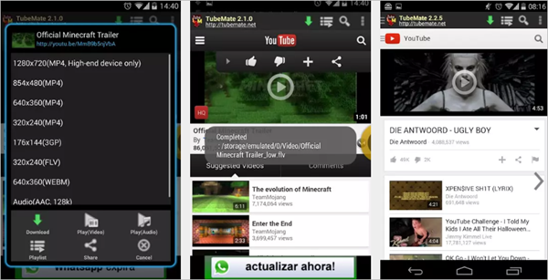 TubeMate is Top Best Free YouTube Video Downloader App for Android.