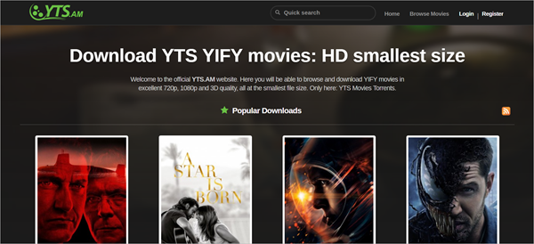 YTS is also a very highly rated website for quality torrents.